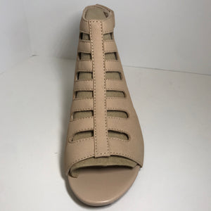 Clark's Leather Cutout Wedge Sandal 7 medium - Outlet Express