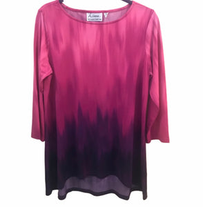 Linea by Louis Dell'Olio 3/4 Sleeve Tunic - size Medium
