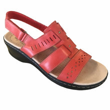 Load image into Gallery viewer, Clarks Leather Cut Out Sandal Size 10-12