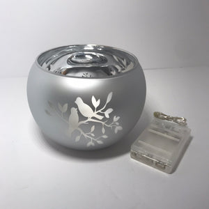 Silver Rose Bowl with Birds - Valerie Collection - Outlet Express