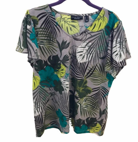 Susan Graver Printed Knit Top - Medium