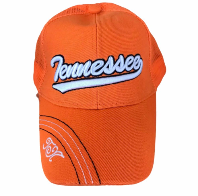 Orange Embroidered Tennessee Hat