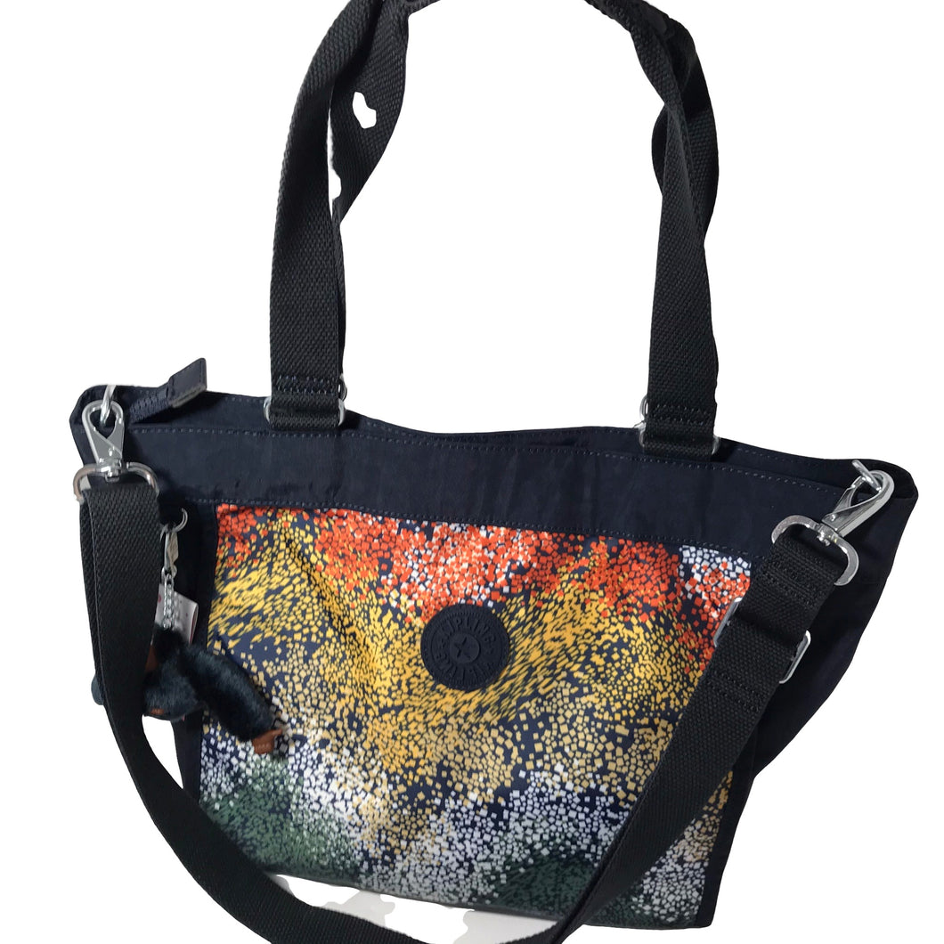 Kipling Colorblock Tote with Crossbody Strap - Outlet Express