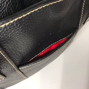 Dooney & Bourke Black Pebble Leather Crossbody - Outlet Express