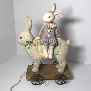 Girl Bunny or Chick Riding Rabbit - Valerie Collection - Outlet Express