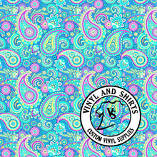 Load image into Gallery viewer, Paisley Patterned Vinyl / Printed 651 Vinyl / Printed Vinyl /Printed Outdoor Vinyl / Printed HTV/Printed Heat Transfer Vinyl/Lilly inspired