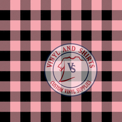 Pink Plaid Patterned Vinyl