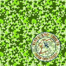 Load image into Gallery viewer, Light Green  Camo Patterned Vinyl / Printed 651 Vinyl / Printed Vinyl /Printed Outdoor Vinyl /Printed Heat Transfer Vinyl