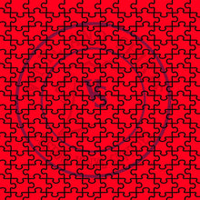 Load image into Gallery viewer, Red Puzzle Patterned Vinyl / Printed 651 Vinyl / Printed Vinyl / autism  puzzle / Printed HTV/Printed Heat Transfer Vinyl/ siser easyweed
