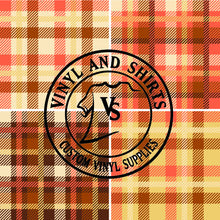 Load image into Gallery viewer, 4 way Plaid Patterned Vinyl /Outdoor Vinyl / Patterned HTV/ Printed Heat Transfer Vinyl