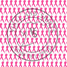Load image into Gallery viewer, Pink Ribbon Patterned Vinyl / Printed 651 Vinyl / Printed Vinyl /Printed Outdoor Vinyl / Printed HTV/Printed Heat Transfer Vinyl