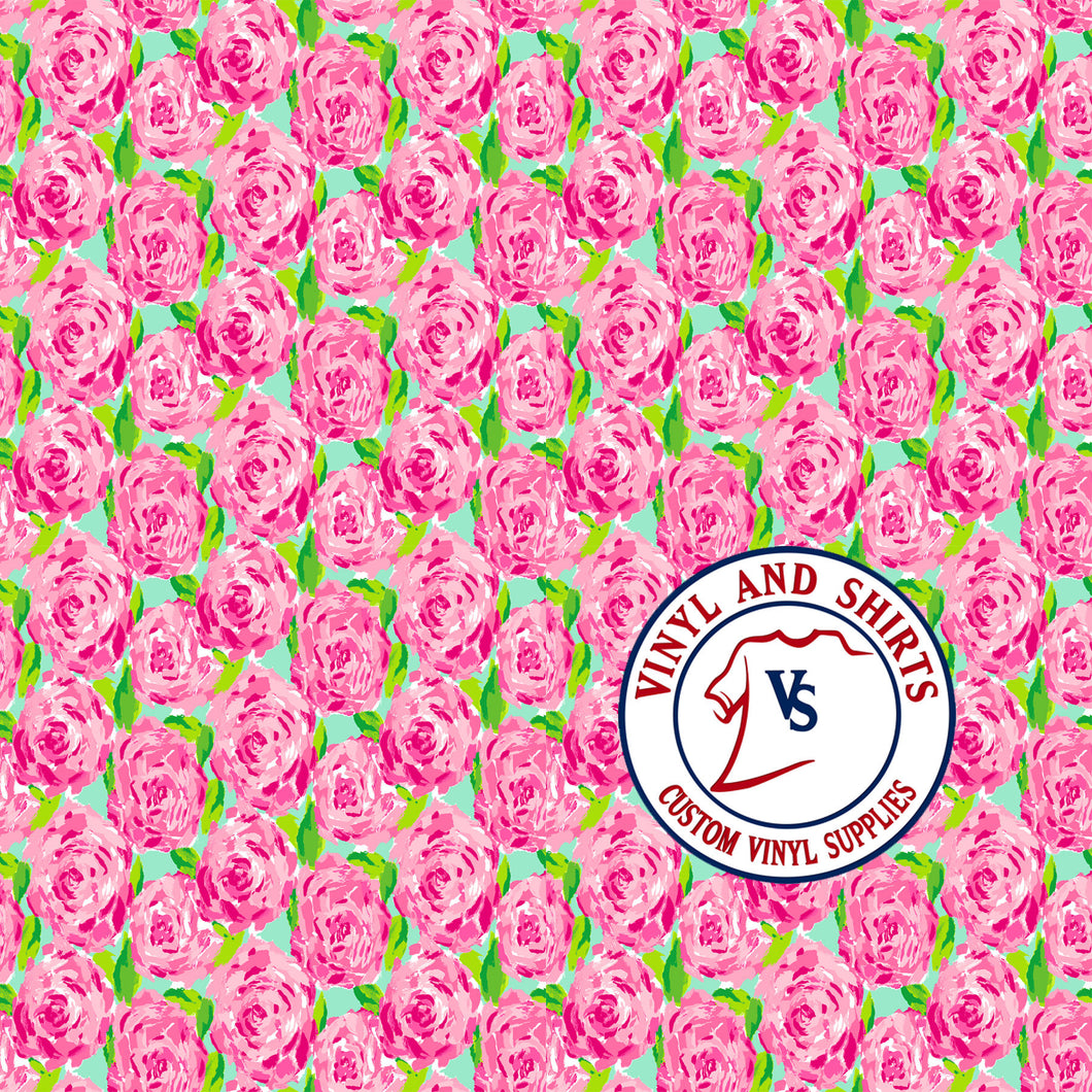 Roses  Lilly inspired  / shirts / Printed Vinyl /Printed Outdoor Vinyl / Printed HTV/Printed Heat Transfer Vinyl/Lilly inspired