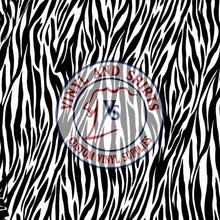 Load image into Gallery viewer, Zebra Skin Patterned Vinyl / Printed 651 Vinyl / Printed Vinyl /Printed Outdoor Vinyl / Printed HTV/Printed Heat Transfer Vinyl