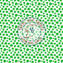Load image into Gallery viewer, St. Paddy's Shamrock 4 Patterned Vinyl / Printed 651 Vinyl / Printed Vinyl /Printed Outdoor Vinyl /Printed Heat Transfer Vinyl
