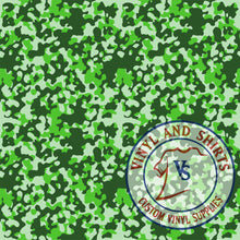Load image into Gallery viewer, Green Camo Patterned Vinyl / Printed 651 Vinyl / Printed Vinyl /Printed Outdoor Vinyl /Printed Heat Transfer Vinyl