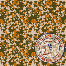 Load image into Gallery viewer, Light Orange Camo Patterned Vinyl / Printed 651 Vinyl / Printed Vinyl /Printed Outdoor Vinyl /Printed Heat Transfer Vinyl