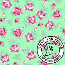 Load image into Gallery viewer, Roses  Lilly P inspired /heat transfer / Printed Vinyl /Printed Vinyl / Printed HTV/Printed Heat Transfer Vinyl/Lilly inspired/651