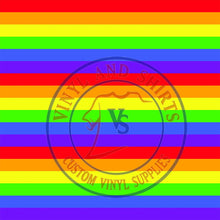 Load image into Gallery viewer, Rainbow stripes Patterned Vinyl / Printed 651 Vinyl / Printed Vinyl /Printed Outdoor Vinyl /Printed Heat Transfer Vinyl