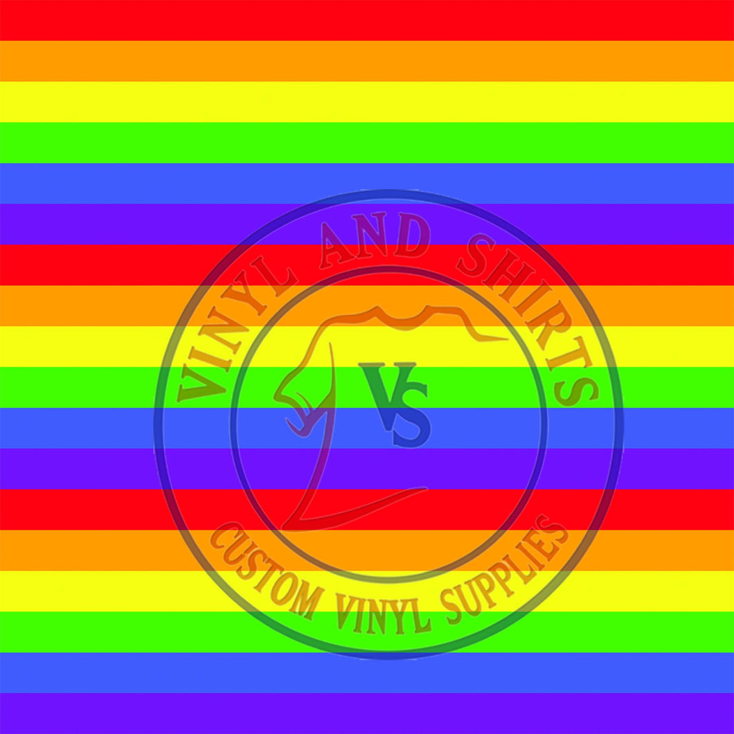 Rainbow stripes Patterned Vinyl / Printed 651 Vinyl / Printed Vinyl /Printed Outdoor Vinyl /Printed Heat Transfer Vinyl