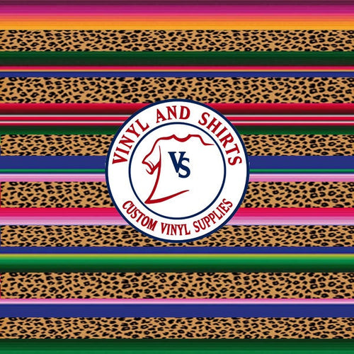 Serape leopard patterned Vinyl