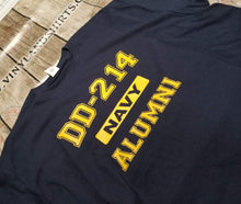 Load image into Gallery viewer, Navy  DD-214 Alumni T-shirt