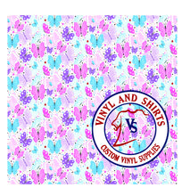 Load image into Gallery viewer, Butterflies Pattern Vinyl  / Printed Vinyl /Printed Outdoor Vinyl / Printed HTV/Printed Heat Transfer Vinyl/Lilly inspired