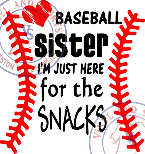 Baseball  Sister Snacks  Svg , eps, svg, sil