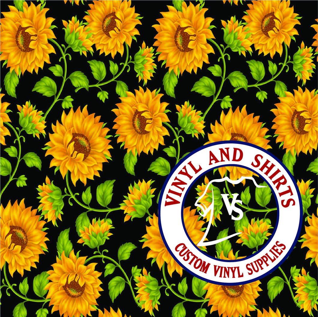Sunflower 2 Pattern Vinyl
