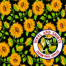 Load image into Gallery viewer, Sunflower / Printed Vinyl /Printed Outdoor Vinyl / Printed HTV/Printed Heat Transfer Vinyl / Lilly inspired / 651/ decal vinyl / HTV