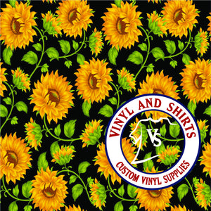 Sunflower / Printed Vinyl /Printed Outdoor Vinyl / Printed HTV/Printed Heat Transfer Vinyl / Lilly inspired / 651/ decal vinyl / HTV