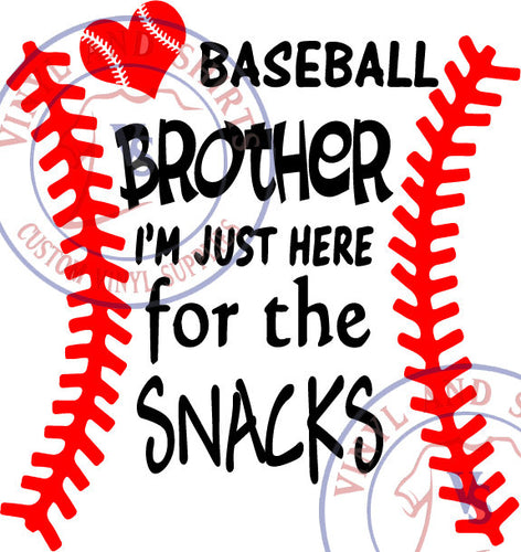 Baseball  Brother Snacks  Svg , eps, svg, sil