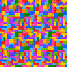 Load image into Gallery viewer, Toy Blocks 2 puzzle Patterned Vinyl/ Printed 651 Vinyl /Printed Outdoor Vinyl / Printed HTV/Printed HTV/ puzzle pattern vinyl