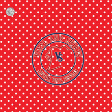 Load image into Gallery viewer, Red Polka Dots Patterned Vinyl / Printed 651 Vinyl / Printed Vinyl /Printed Outdoor Vinyl / Printed HTV/Printed Heat Transfer Vinyl