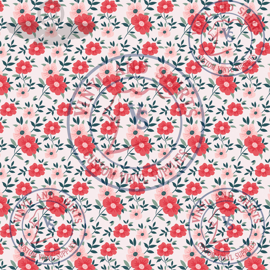 Spring Flowers 1  / shirts / Printed Vinyl /Printed Outdoor Vinyl / Printed HTV/Printed Heat Transfer Vinyl/Lilly inspired