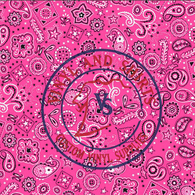 Pink Bandana Pattern , Red Bandana Patterned Vinyl/ Printed 651 Vinyl /Printed Outdoor Vinyl / Printed HTV/ Heat Transfer Vinyl