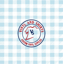 Load image into Gallery viewer, Light Blue Spring Plaid Vinyl / Printed 651 Vinyl / Printed Vinyl /Printed Outdoor Vinyl / Printed HTV/Printed Heat Transfer Vinyl