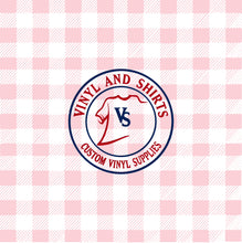 Load image into Gallery viewer, Light Pink Spring Plaid Vinyl / Printed 651 Vinyl / Printed Vinyl /Printed Outdoor Vinyl / Printed HTV/Printed Heat Transfer Vinyl