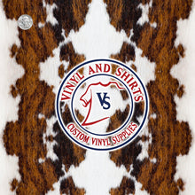 Load image into Gallery viewer, Brown Cowhide  Patterned Vinyl / Printed Vinyl /Printed Outdoor Vinyl / Printed HTV / Printed Heat Transfer Vinyl/Pattern Vinyl 651