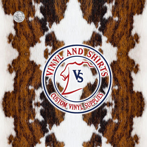 Brown Cowhide  Patterned Vinyl / Printed Vinyl /Printed Outdoor Vinyl / Printed HTV / Printed Heat Transfer Vinyl/Pattern Vinyl 651