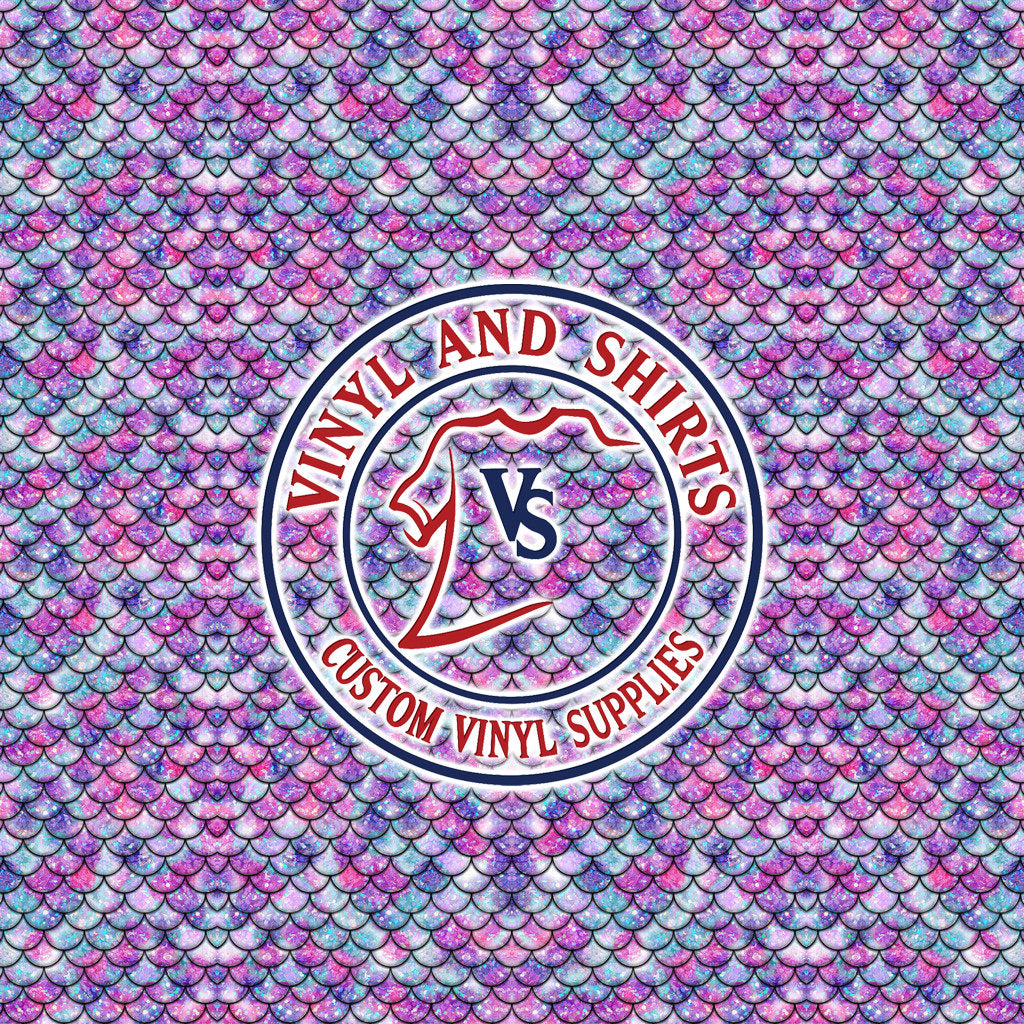 Purple Mermaid Scales Patterned Vinyl / Printed 651 Vinyl / Printed Vinyl /Printed Outdoor Vinyl /Printed Heat Transfer Vinyl/Lilly inspired