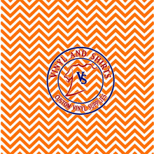 Load image into Gallery viewer, Tennessee Orange Chevron Pattern Vinyl   /  Printed Vinyl /Printed Outdoor Vinyl /Printed Heat Transfer Vinyl/ HTV