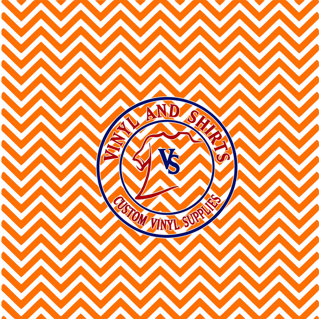 Tennessee Orange Chevron Pattern Vinyl   /  Printed Vinyl /Printed Outdoor Vinyl /Printed Heat Transfer Vinyl/ HTV