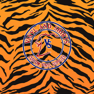 Tiger Patterned Vinyl / Printed Vinyl /Pattern Vinyl /Printed Outdoor Vinyl / Printed HTV / Printed Heat Transfer Vinyl/ animal skin