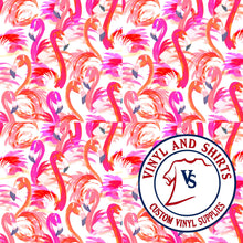Load image into Gallery viewer, White Flamingo Patterned Vinyl / Printed 651 Vinyl / Pattern Vinyl /Printed Outdoor Vinyl / Pattern HTV/Printed Heat Transfer Vinyl