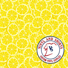 Load image into Gallery viewer, Lemon Pattern Vinyl / Printed 651 Vinyl / Patterned Vinyl / pattern Outdoor Vinyl / Pattern HTV/ Printed Heat Transfer Vinyl