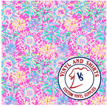 Load image into Gallery viewer, Pink Blossom Patterned Vinyl / 651 Vinyl / /Printed Outdoor/Indoor Vinyl / Pattern HTV/ Heat Transfer Vinyl