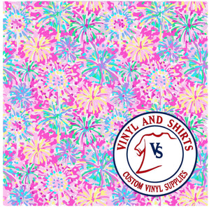 Pink Blossom Patterned Vinyl / 651 Vinyl / /Printed Outdoor/Indoor Vinyl / Pattern HTV/ Heat Transfer Vinyl