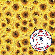 Load image into Gallery viewer, Sunflower Pattern Vinyl /Printed Outdoor Vinyl / Printed HTV/pattern Heat Transfer Vinyl / floral/ 651/ decal vinyl / HTV