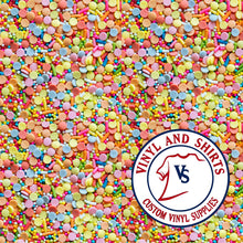 Load image into Gallery viewer, Candy Sprinkles  Pattern Vinyl / Printed 651 Vinyl / Patterned Vinyl / pattern Outdoor Vinyl / Pattern HTV/ Printed Heat Transfer Vinyl