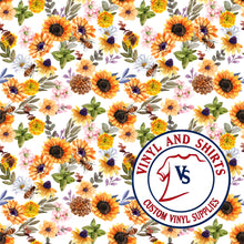 Load image into Gallery viewer, Spring Sunflower / Printed Vinyl /Printed Outdoor Vinyl / Printed HTV/Printed Heat Transfer Vinyl / Lilly inspired / 651/ decal vinyl / HTV